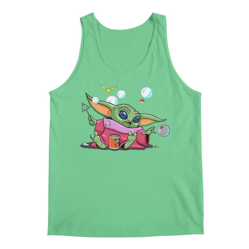 Orko Baby Yoda and Duff Deathly Hallow Bubbles Men's Regular Tank by Kindalikesorta - Art Prints, Custom T-Shirts + Mor