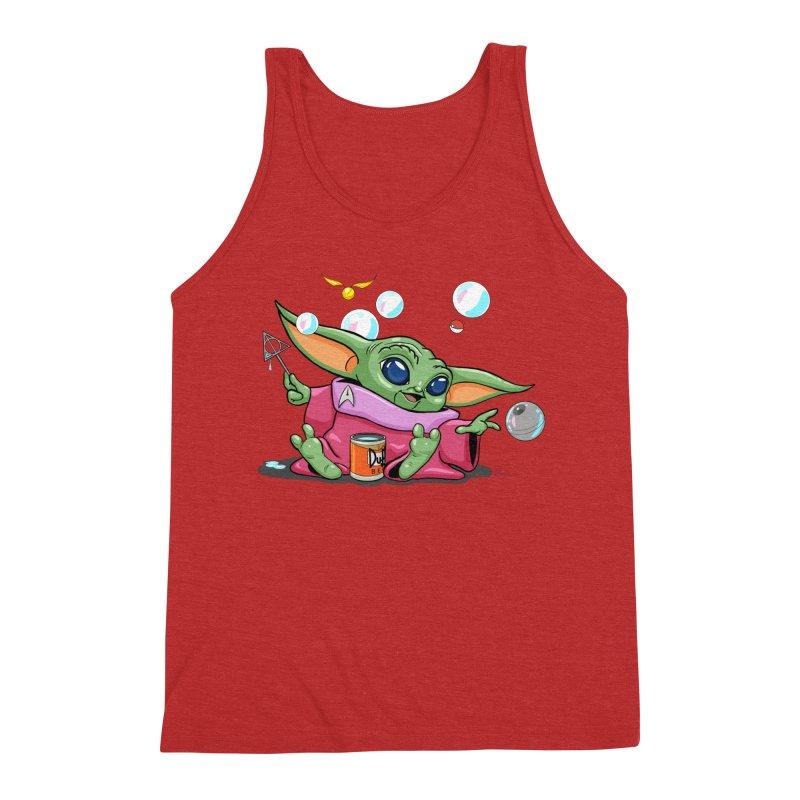 Orko Baby Yoda and Duff Deathly Hallow Bubbles Men's Triblend Tank by Kindalikesorta - Art Prints, Custom T-Shirts + Mor