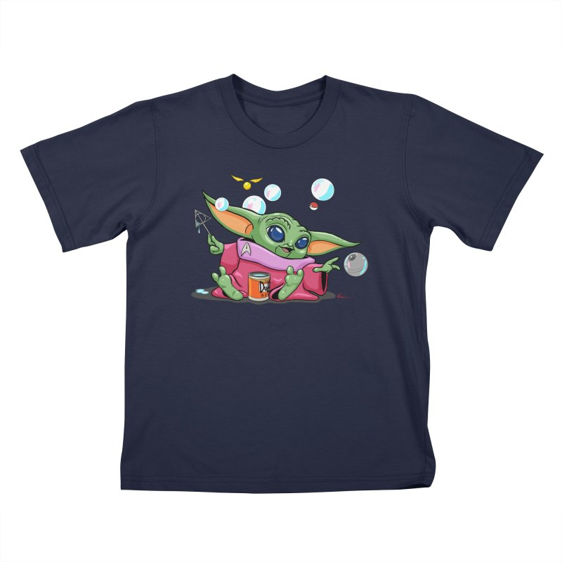 Orko Baby Yoda and Duff Deathly Hallow Bubbles Kids T-Shirt by Kindalikesorta - Art Prints, Custom T-Shirts + Mor