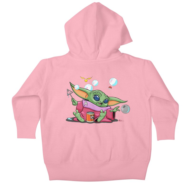 Orko Baby Yoda and Duff Deathly Hallow Bubbles Kids Baby Zip-Up Hoody by Kindalikesorta - Art Prints, Custom T-Shirts + Mor