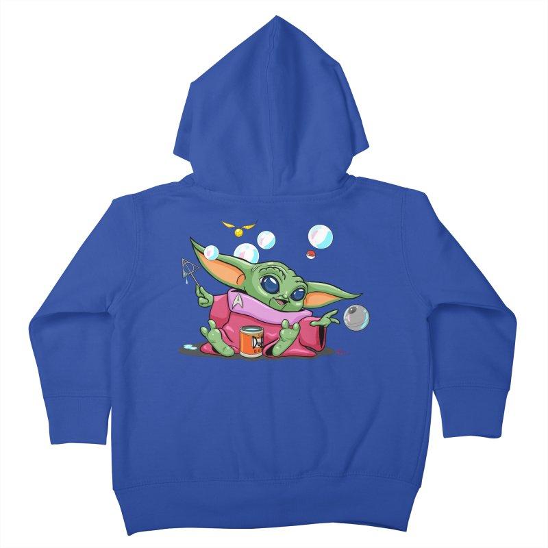 Orko Baby Yoda and Duff Deathly Hallow Bubbles Kids Toddler Zip-Up Hoody by Kindalikesorta - Art Prints, Custom T-Shirts + Mor