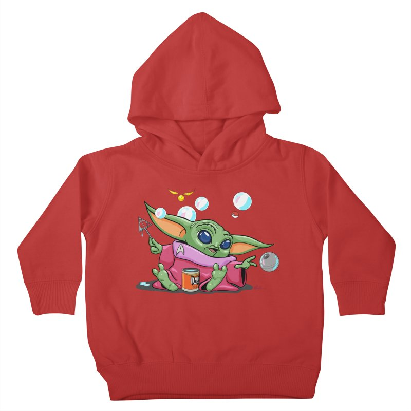 Orko Baby Yoda and Duff Deathly Hallow Bubbles Kids Toddler Pullover Hoody by Kindalikesorta - Art Prints, Custom T-Shirts + Mor