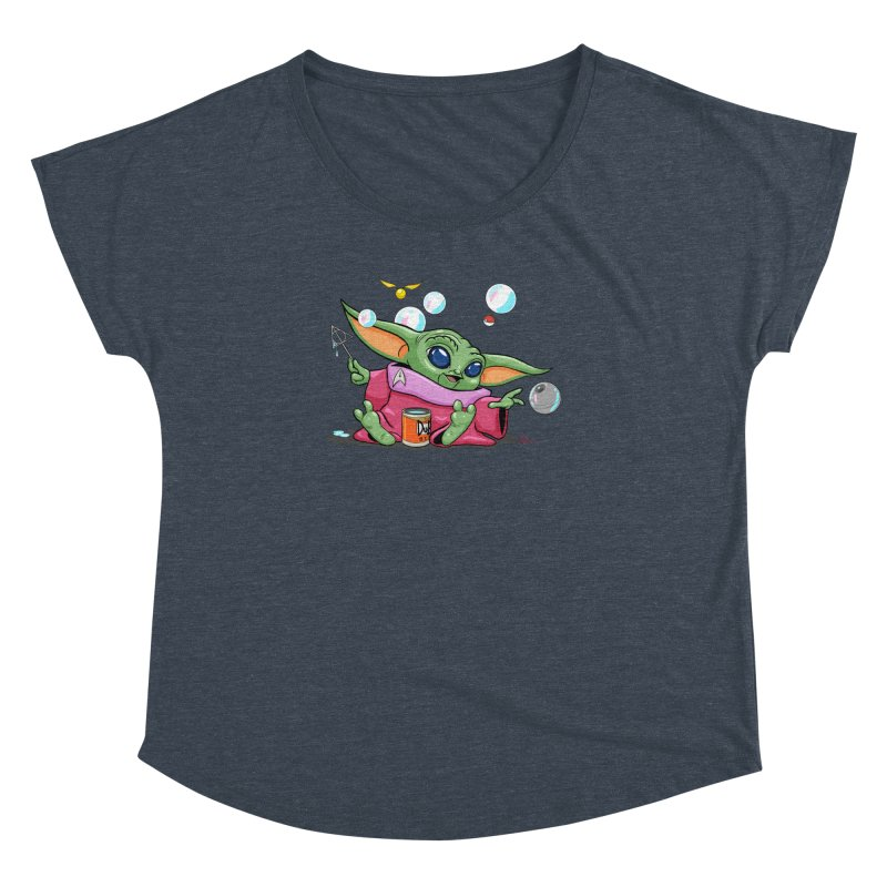 Orko Baby Yoda and Duff Deathly Hallow Bubbles Women's Dolman Scoop Neck by Kindalikesorta - Art Prints, Custom T-Shirts + Mor