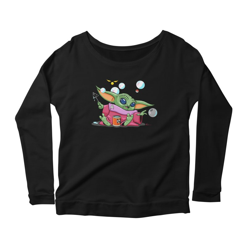 Orko Baby Yoda and Duff Deathly Hallow Bubbles Women's Scoop Neck Longsleeve T-Shirt by Kindalikesorta - Art Prints, Custom T-Shirts + Mor