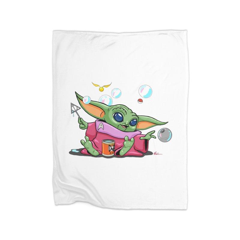 Orko Baby Yoda and Duff Deathly Hallow Bubbles Home Fleece Blanket Blanket by Kindalikesorta - Art Prints, Custom T-Shirts + Mor