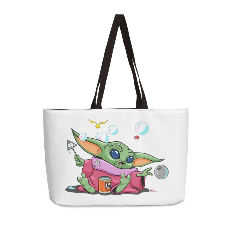 Orko Baby Yoda and Duff Deathly Hallow Bubbles Accessories Weekender Bag Bag by Kindalikesorta - Art Prints, Custom T-Shirts + Mor