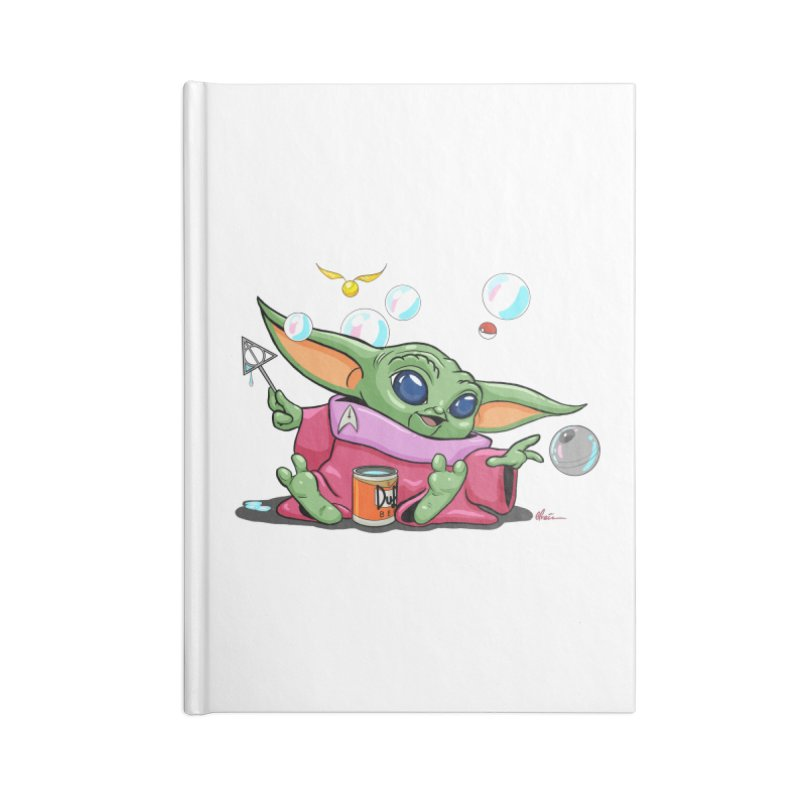 Orko Baby Yoda and Duff Deathly Hallow Bubbles Accessories Lined Journal Notebook by Kindalikesorta - Art Prints, Custom T-Shirts + Mor