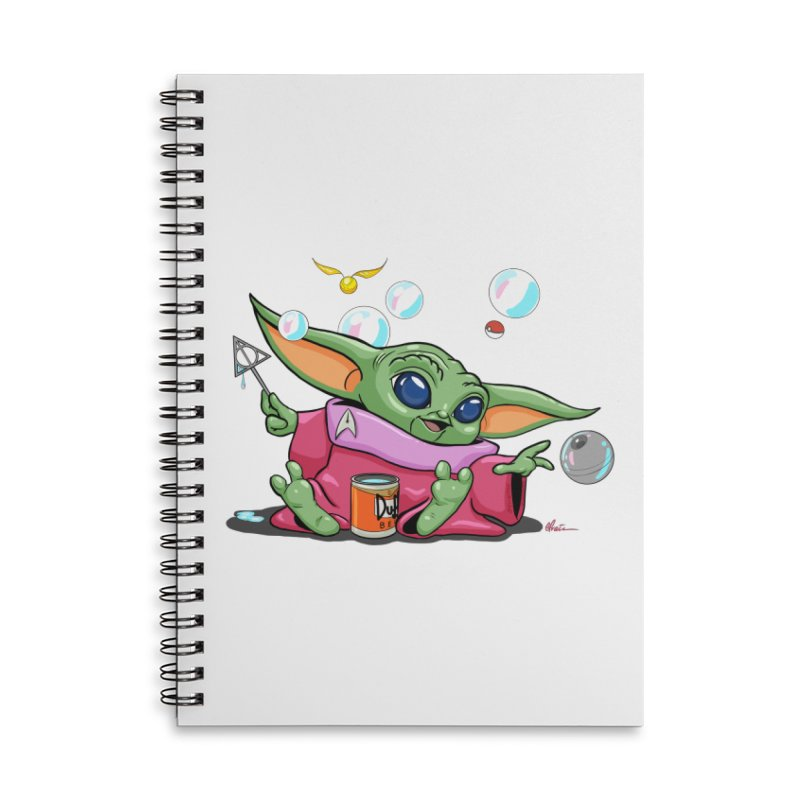 Orko Baby Yoda and Duff Deathly Hallow Bubbles Accessories Lined Spiral Notebook by Kindalikesorta - Art Prints, Custom T-Shirts + Mor