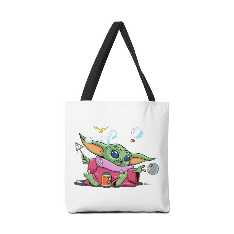 Orko Baby Yoda and Duff Deathly Hallow Bubbles Accessories Tote Bag Bag by Kindalikesorta - Art Prints, Custom T-Shirts + Mor