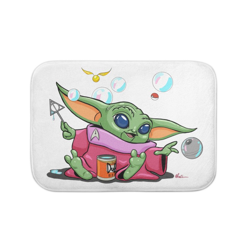 Orko Baby Yoda and Duff Deathly Hallow Bubbles Home Bath Mat by Kindalikesorta - Art Prints, Custom T-Shirts + Mor
