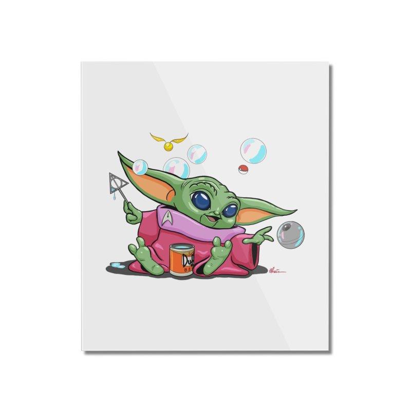 Orko Baby Yoda and Duff Deathly Hallow Bubbles Home Mounted Acrylic Print by Kindalikesorta - Art Prints, Custom T-Shirts + Mor