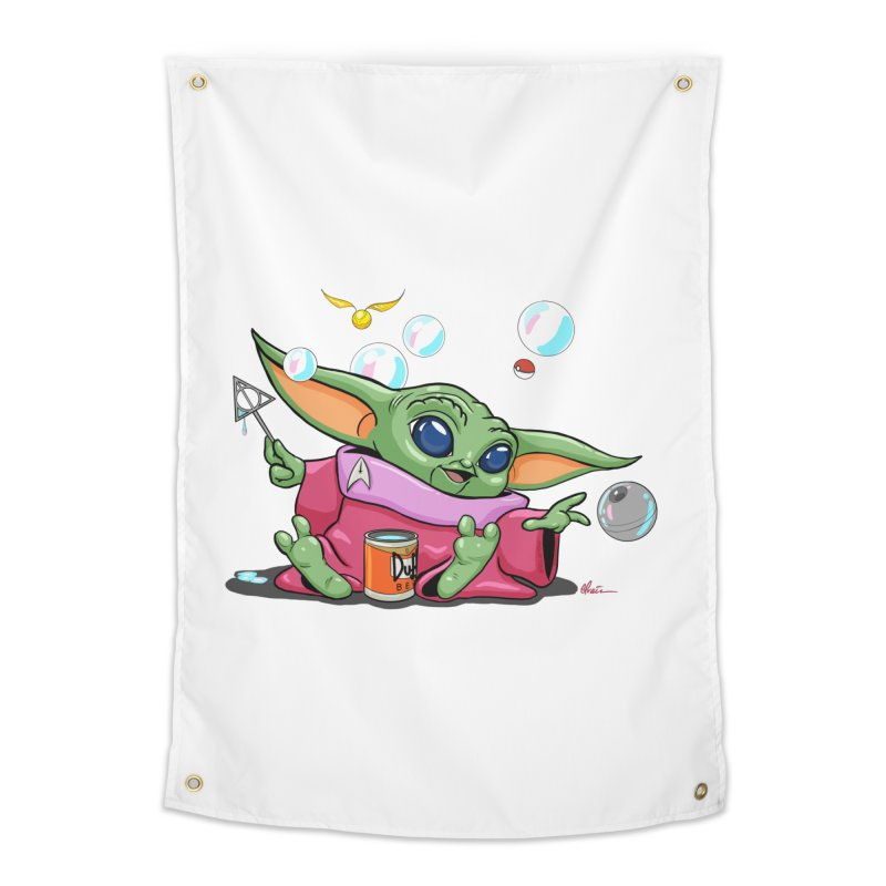 Orko Baby Yoda and Duff Deathly Hallow Bubbles Home Tapestry by Kindalikesorta - Art Prints, Custom T-Shirts + Mor