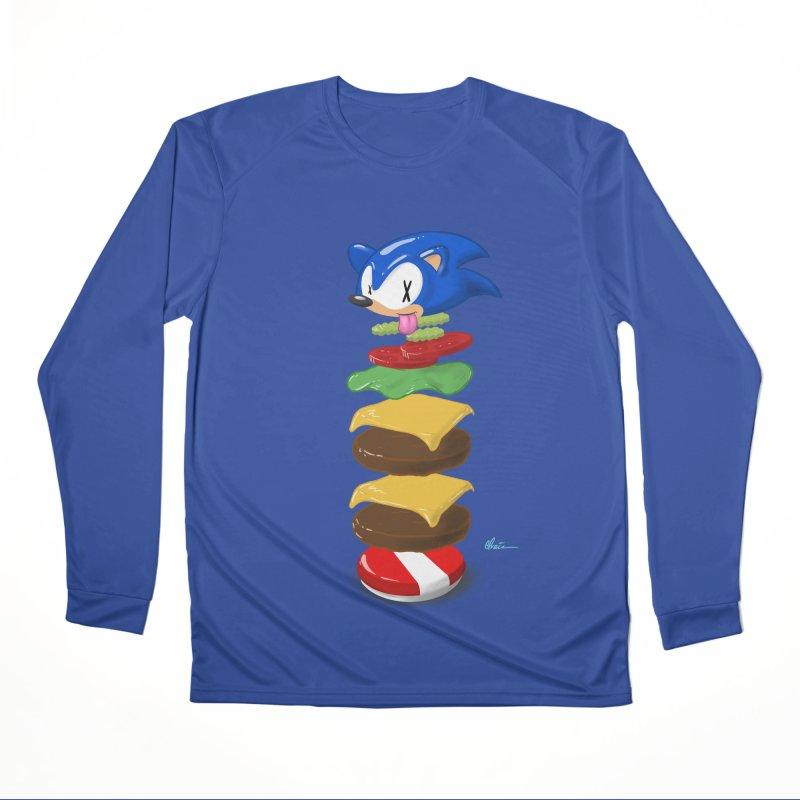 Double Sonic Burger with Cheese No Sauces - v1 Men's Performance Longsleeve T-Shirt by Kindalikesorta - Art Prints, Custom T-Shirts + Mor
