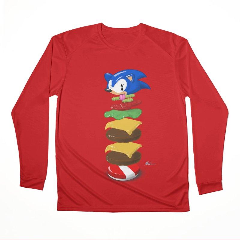 Double Sonic Burger with Cheese No Sauces - v1 Women's Performance Unisex Longsleeve T-Shirt by Kindalikesorta - Art Prints, Custom T-Shirts + Mor