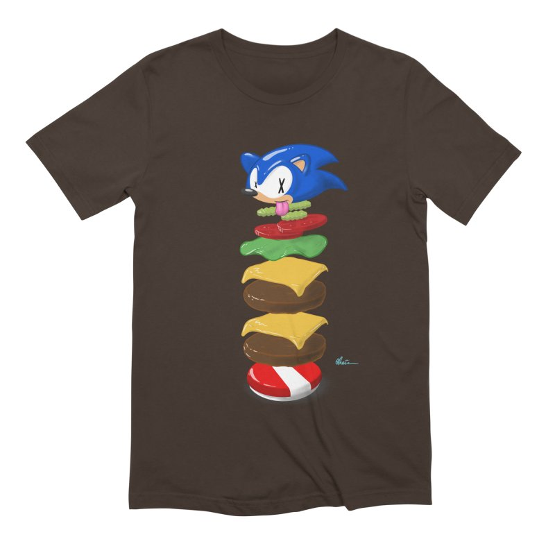 Double Sonic Burger with Cheese No Sauces - v1 Men's Extra Soft T-Shirt by Kindalikesorta - Art Prints, Custom T-Shirts + Mor