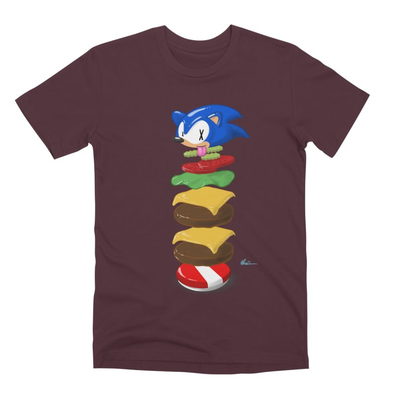 Double Sonic Burger with Cheese No Sauces - v1 Men's Premium T-Shirt by Kindalikesorta - Art Prints, Custom T-Shirts + Mor