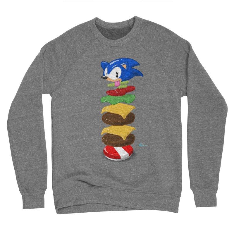 Double Sonic Burger with Cheese No Sauces - v1 Men's Sponge Fleece Sweatshirt by Kindalikesorta - Art Prints, Custom T-Shirts + Mor