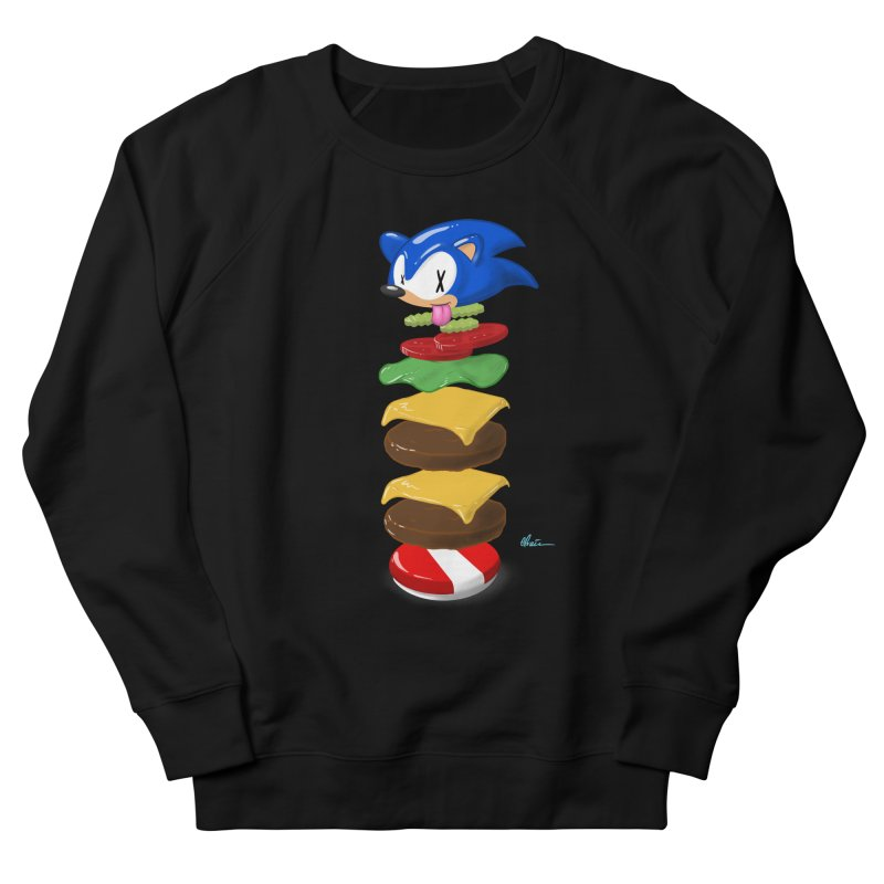 Double Sonic Burger with Cheese No Sauces - v1 Women's French Terry Sweatshirt by Kindalikesorta - Art Prints, Custom T-Shirts + Mor