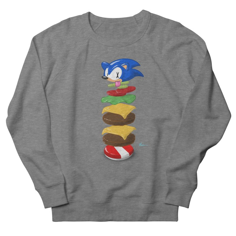 Double Sonic Burger with Cheese No Sauces - v1 Men's French Terry Sweatshirt by Kindalikesorta - Art Prints, Custom T-Shirts + Mor