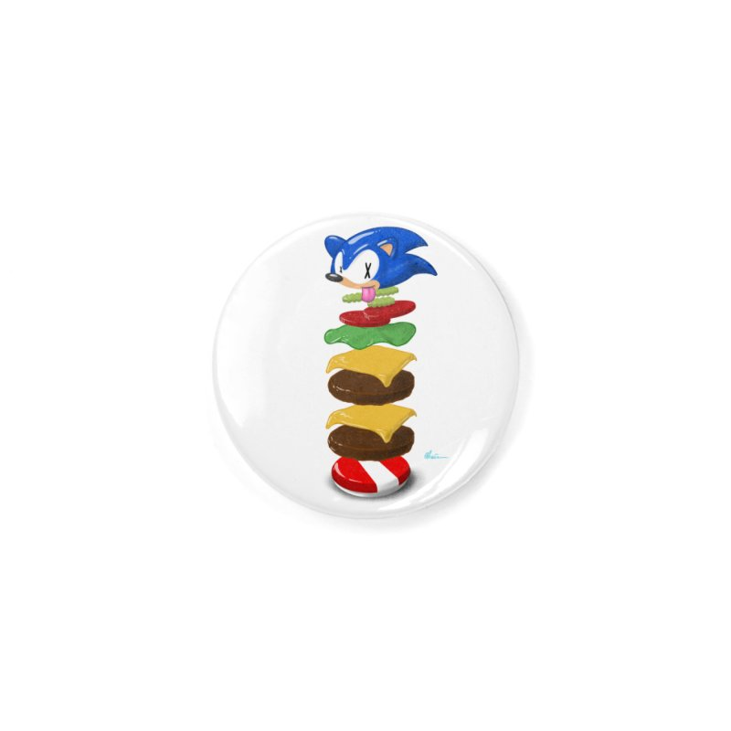 Double Sonic Burger with Cheese No Sauces - v1 Accessories Button by Kindalikesorta - Art Prints, Custom T-Shirts + Mor