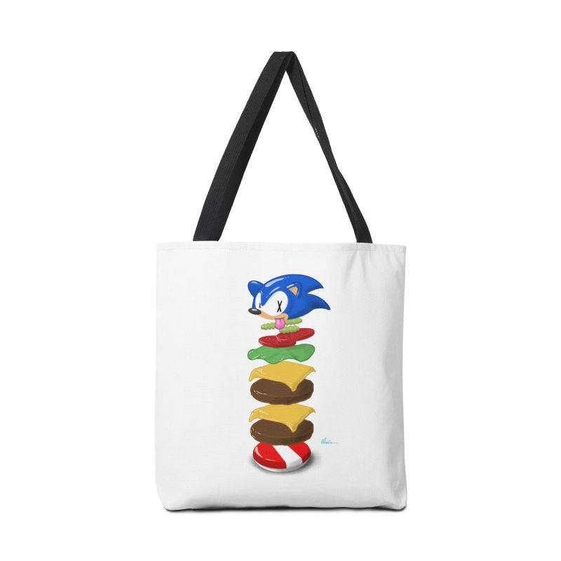Double Sonic Burger with Cheese No Sauces - v1 Accessories Tote Bag Bag by Kindalikesorta - Art Prints, Custom T-Shirts + Mor