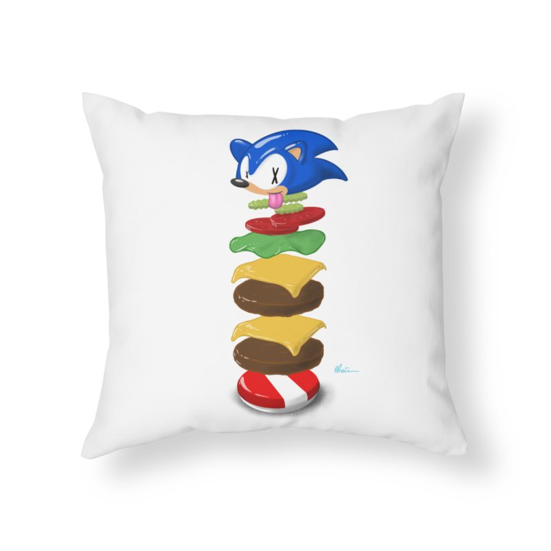 Double Sonic Burger with Cheese No Sauces - v1 Home Throw Pillow by Kindalikesorta - Art Prints, Custom T-Shirts + Mor