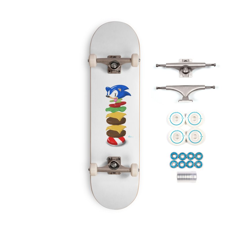 Double Sonic Burger with Cheese No Sauces - v1 Accessories Complete - Basic Skateboard by Kindalikesorta - Art Prints, Custom T-Shirts + Mor