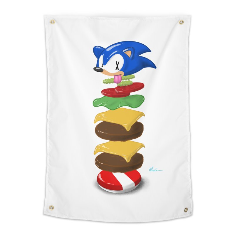 Double Sonic Burger with Cheese No Sauces - v1 Home Tapestry by Kindalikesorta - Art Prints, Custom T-Shirts + Mor