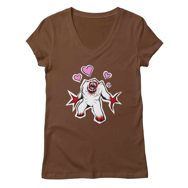 Shambler Love Women's V-Neck by kingakorska's Artist Shop