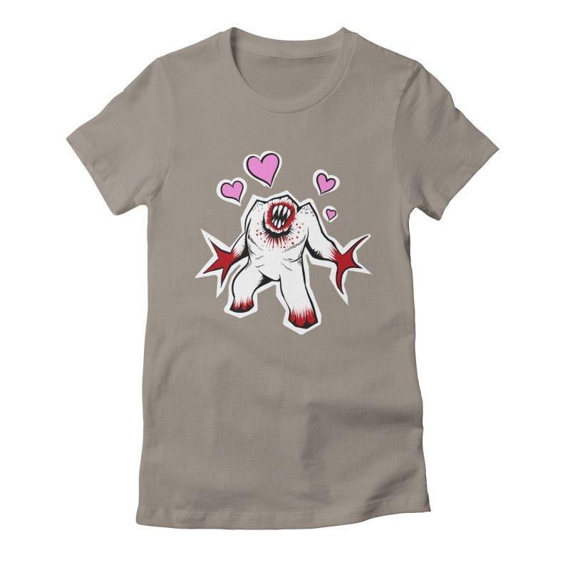 Shambler Love Women's Fitted T-Shirt by kingakorska's Artist Shop