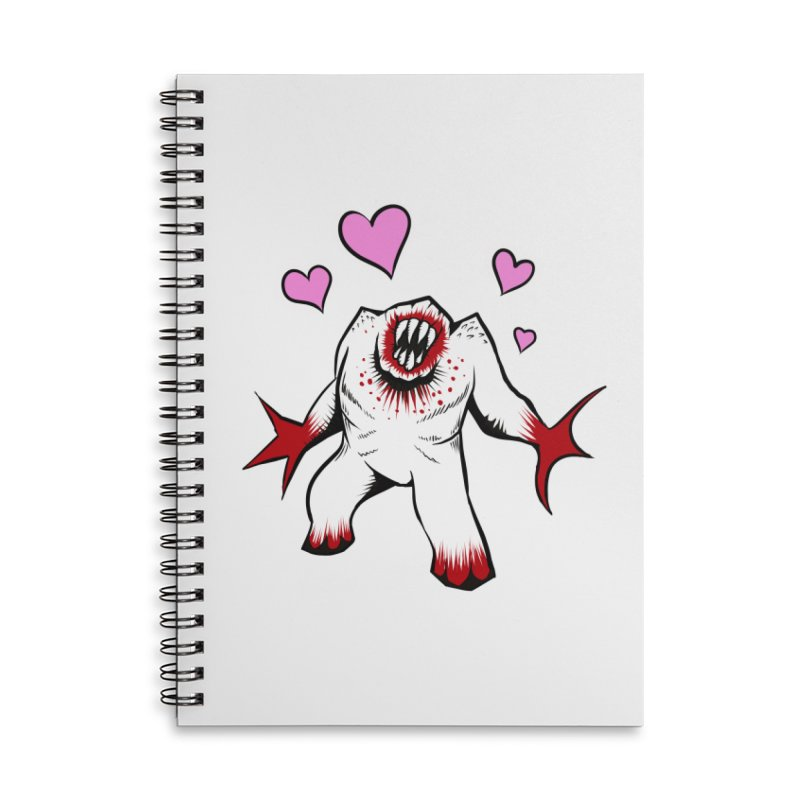 Shambler Love Accessories Lined Spiral Notebook by kingakorska's Artist Shop