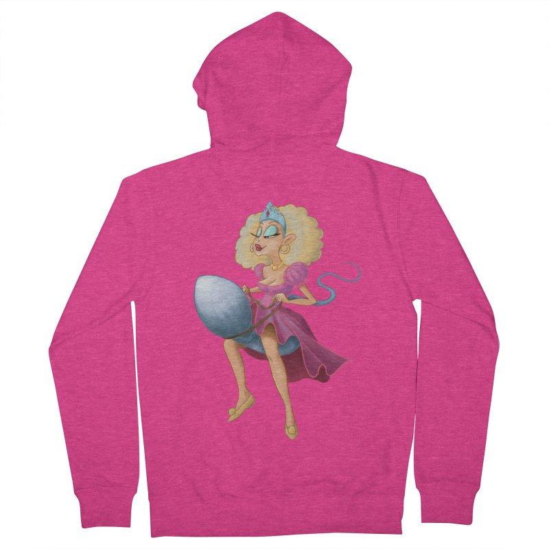 Princess on a Spermatozoid Women's French Terry Zip-Up Hoody by kingakorska's Artist Shop