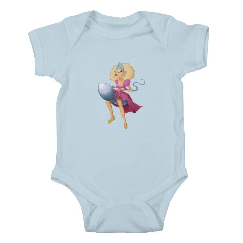 Princess on a Spermatozoid Kids Baby Bodysuit by kingakorska's Artist Shop