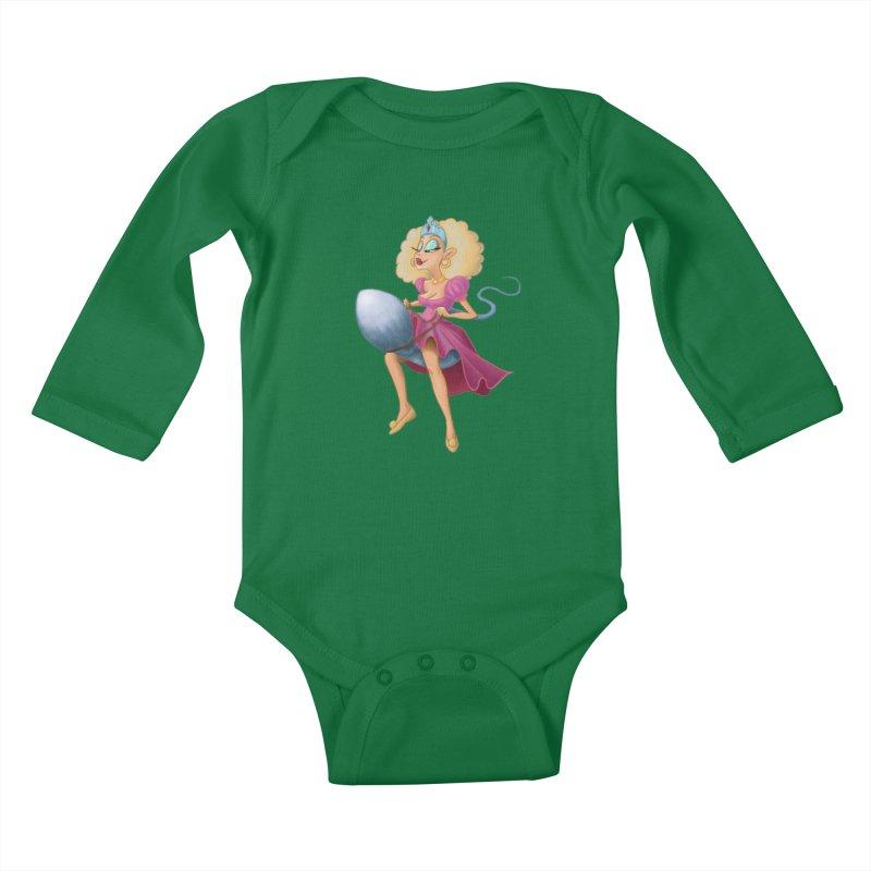Princess on a Spermatozoid Kids Baby Longsleeve Bodysuit by kingakorska's Artist Shop
