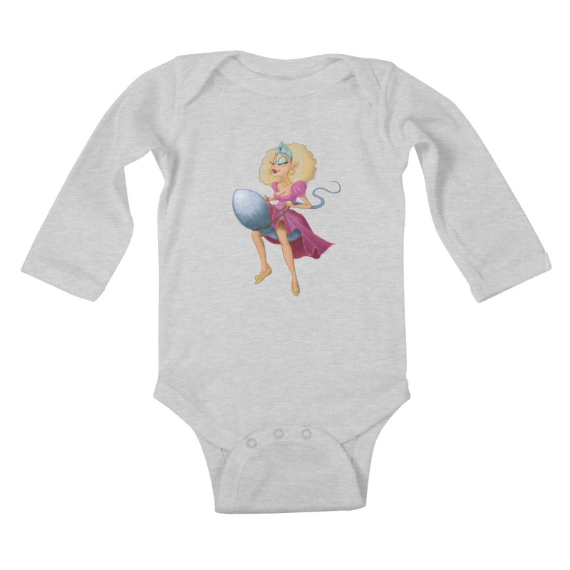 Princess on a Spermatozoid Kids Baby Longsleeve Bodysuit by kingakorska's Artist Shop