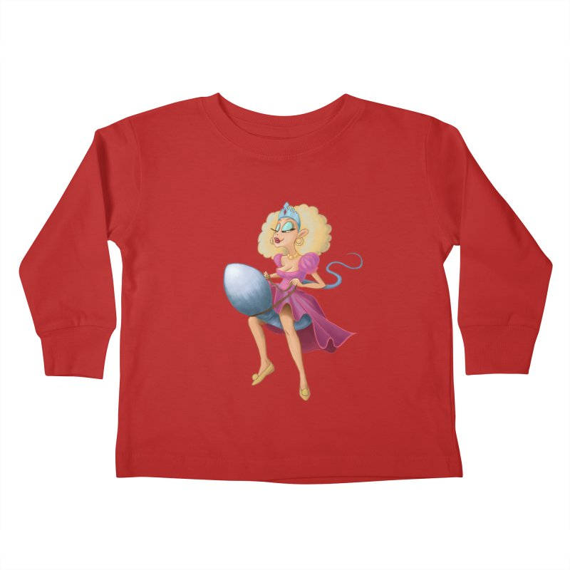 Princess on a Spermatozoid Kids Toddler Longsleeve T-Shirt by kingakorska's Artist Shop