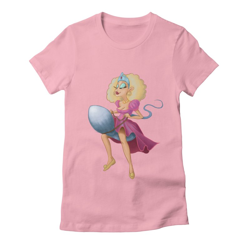 Princess on a Spermatozoid Women's Fitted T-Shirt by kingakorska's Artist Shop