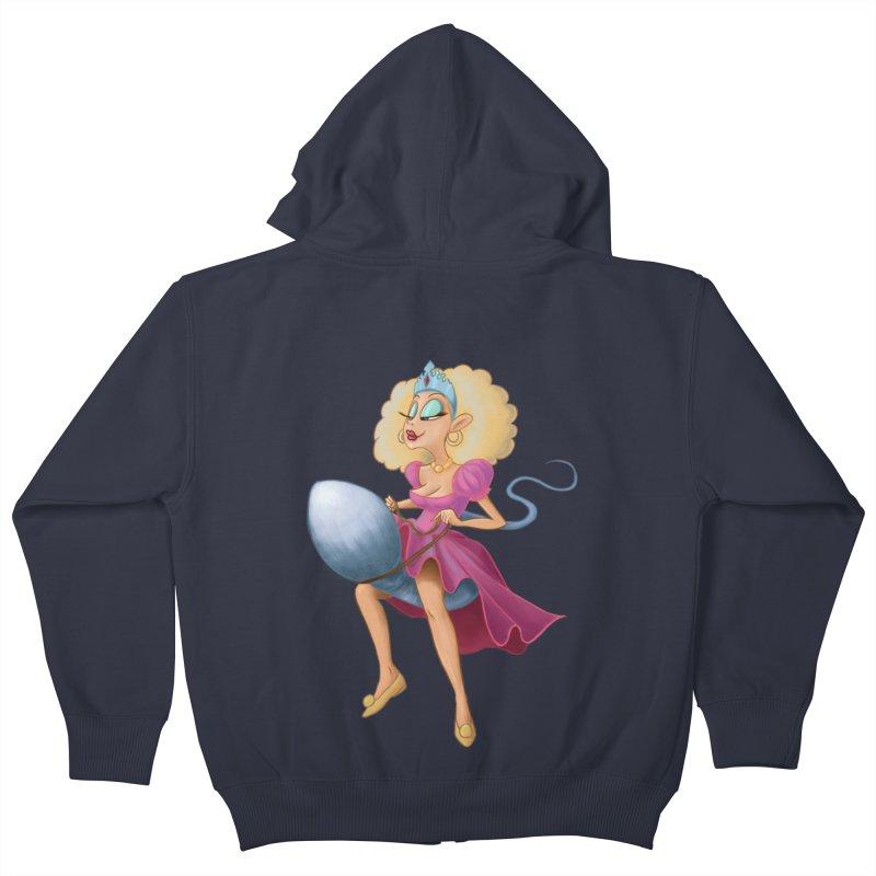 Princess on a Spermatozoid Kids Zip-Up Hoody by kingakorska's Artist Shop