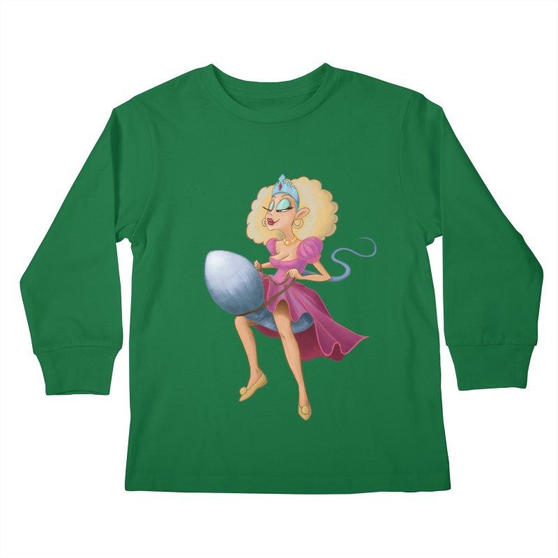 Princess on a Spermatozoid Kids Longsleeve T-Shirt by kingakorska's Artist Shop