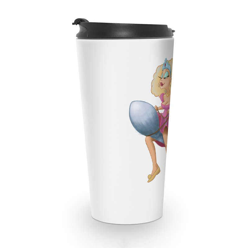 Princess on a Spermatozoid Accessories Travel Mug by kingakorska's Artist Shop