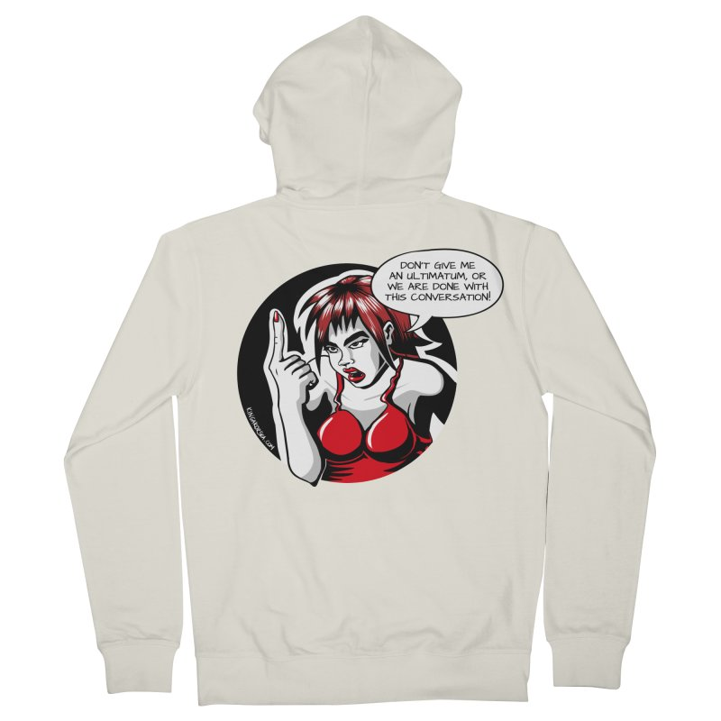 Ultimatum Women's Zip-Up Hoody by kingakorska's Artist Shop