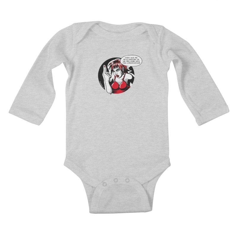 Ultimatum Kids Baby Longsleeve Bodysuit by kingakorska's Artist Shop