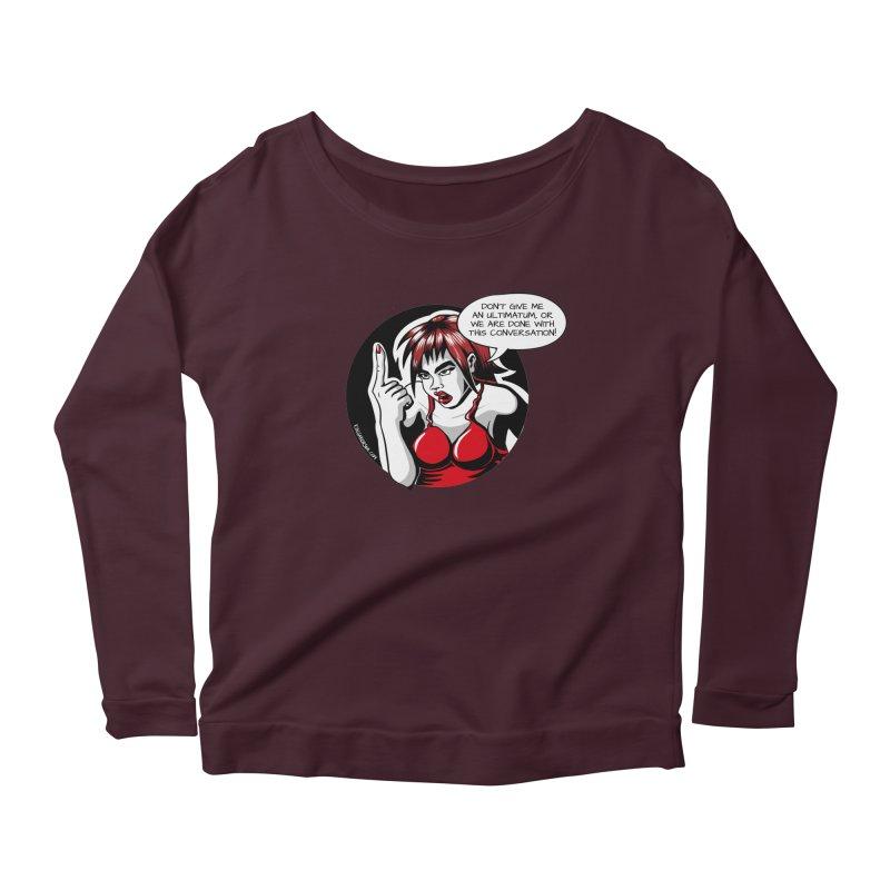 Ultimatum Women's Longsleeve T-Shirt by kingakorska's Artist Shop