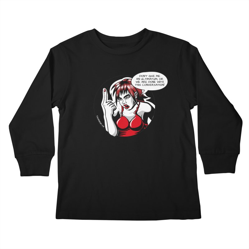 Ultimatum Kids Longsleeve T-Shirt by kingakorska's Artist Shop
