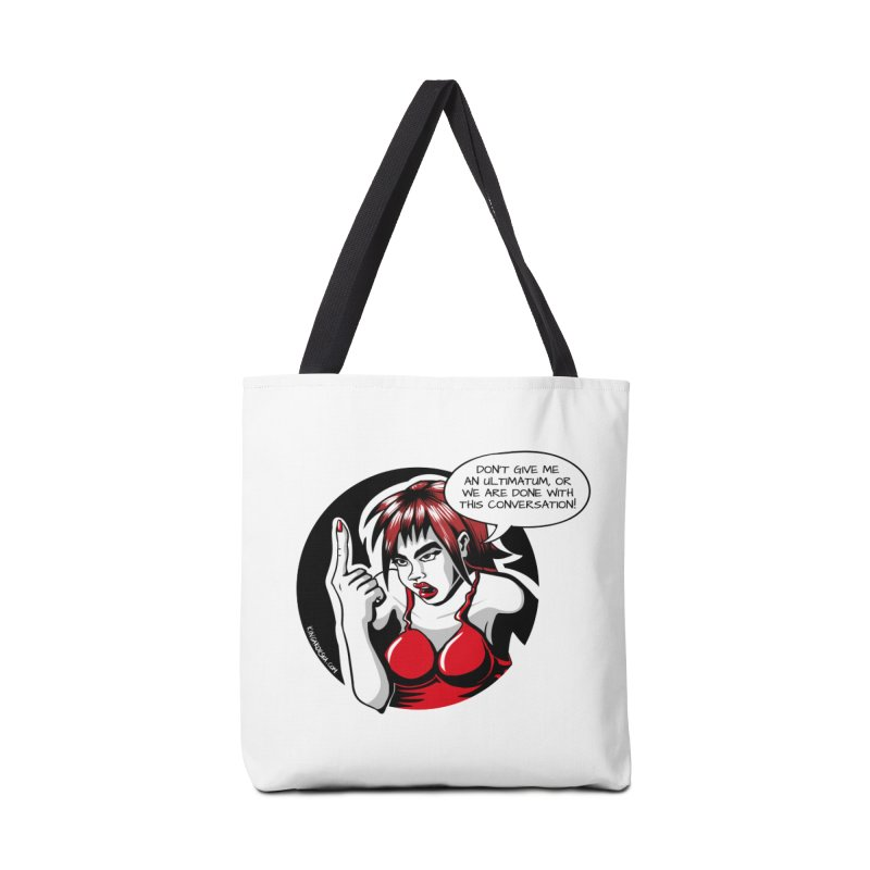 Ultimatum Accessories Tote Bag Bag by kingakorska's Artist Shop