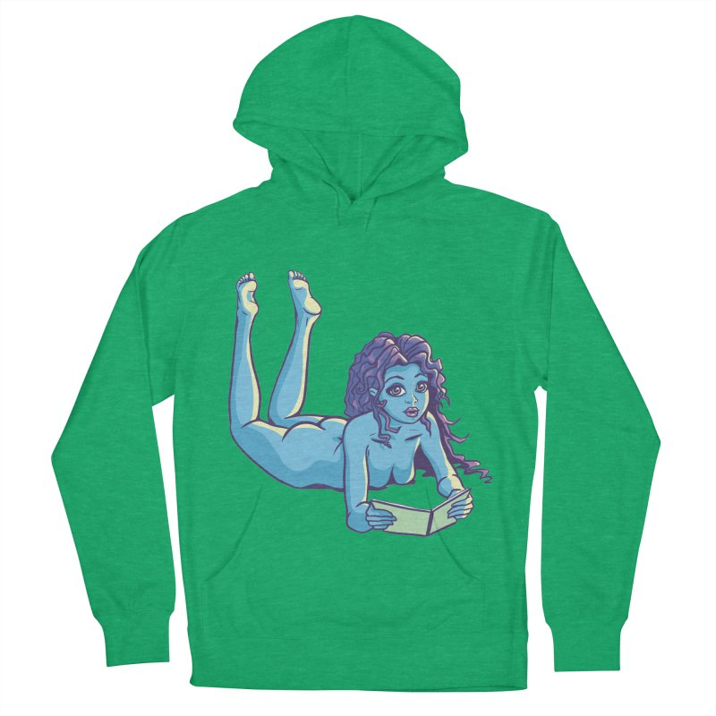 Lady Tou Women's French Terry Pullover Hoody by kingakorska's Artist Shop