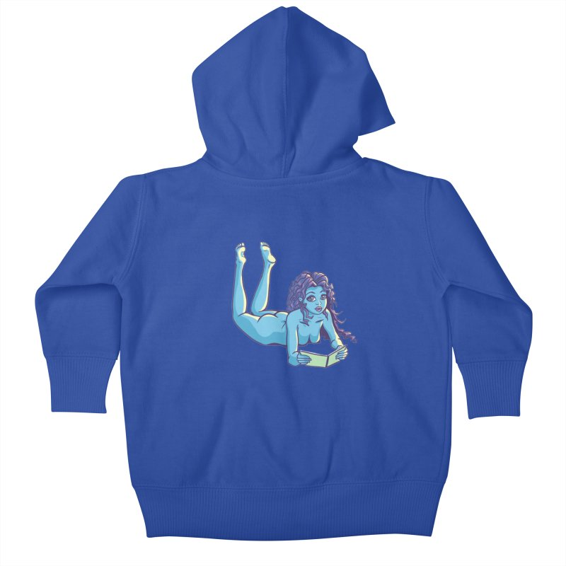Lady Tou Kids Baby Zip-Up Hoody by kingakorska's Artist Shop