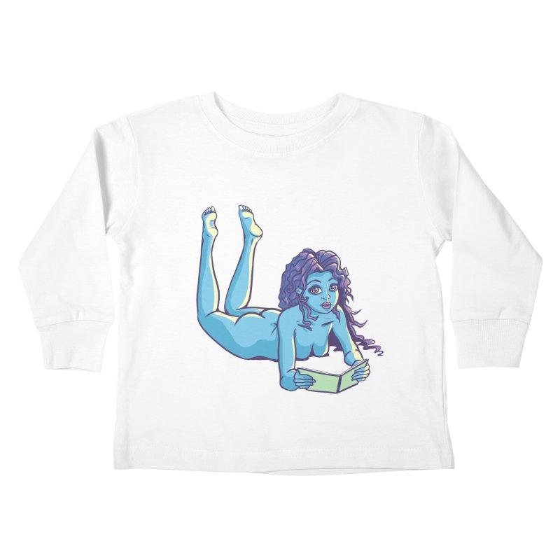 Lady Tou Kids Toddler Longsleeve T-Shirt by kingakorska's Artist Shop