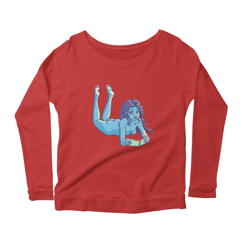 Lady Tou Women's Longsleeve Scoopneck  by kingakorska's Artist Shop