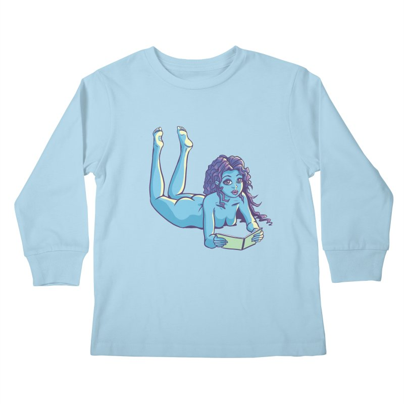 Lady Tou Kids Longsleeve T-Shirt by kingakorska's Artist Shop
